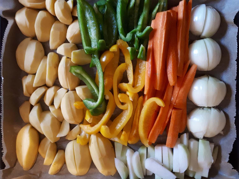 Kartoffelspalten mit Gemüse4