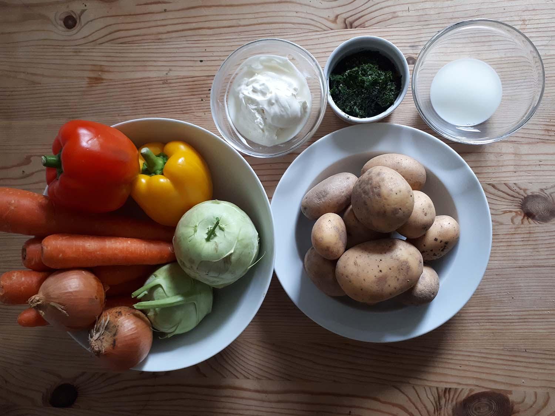 Kartoffelspalten mit Gemüse5